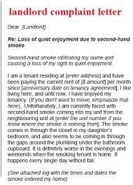 Complaint Letter Template Landlord Complaint Letter