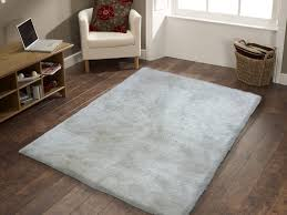 pictures of handmade white solid soft u0026 fuzzy area rug 5u0027 x 7u0027 ft