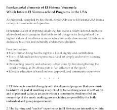 articles essays and speeches relating to el sistema el sistema fundamentals basic