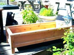 planter benches deck wooden bench plans