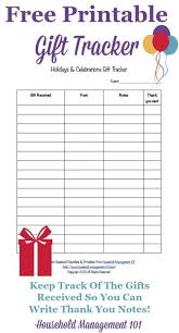 Gift Tracker Printable Holidays Celebrations Gift Tracker Remember The Gifts