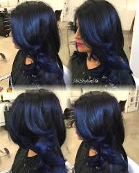 Black Ice Blueblackhair Colorful Hairhair Colourblue