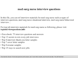Sample Resume Questions medsurgnurseinterviewquestions100phpapp100thumbnail100jpgcb=110009889515 21