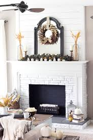 elegance of this mantel by lauren at blesser house the shiplap wall and gorgeous mirror are complimented by the symmetry of her subtle fall decor