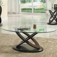 brown wood glass top coffee table 3401w