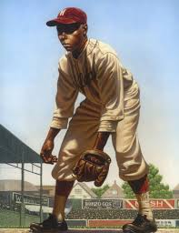 "Kadir Nelson, painting of William Julius ""Judy"" Johnson, Hilldale Club. 
