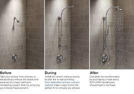 kohler hydrorail before and after