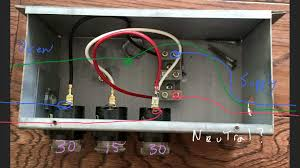 electrical wire a 30a 15a 30a fuse box to a 4 wire 120v 240v the included fuse box