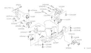 engine transmission mounting for 2002 nissan sentra 2002 nissan sentra engine transmission mounting diagram d 001