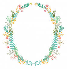 Card With Frame Of Flowers And Ferns Vector Free Download