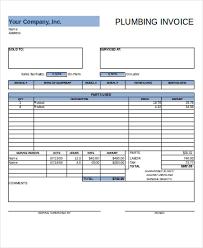 Plumbing Invoice Sample Plumbing Invoice 7 Examples In Pdf Excel