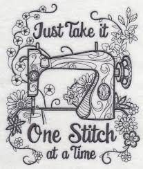 Best 25+ Quilt tattoo ideas on Pinterest | Memorial tattoos for ... & Blackwork Sewing machine color it yourself embroidered fabric quilt block Adamdwight.com