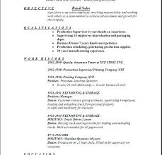 Retail Job Resumes Resume Objective For Retail Resume Ideas