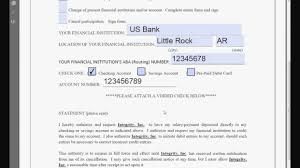 Direct Debit Form How You Can Attend Us Bank Direct Deposit Form With Minimal