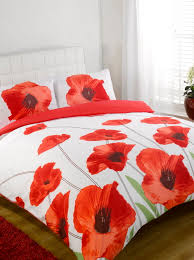 ikea red and white duvet cover