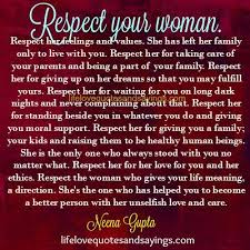 Quotes About Respect Your Woman 40 Quotes Classy Respect A Woman Quotes