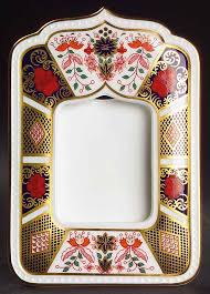frame holds 3 x 4 old imari by royal crown derby