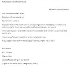 Authorisation Letter To Collect Visa Template Authority Letter