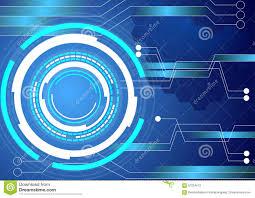 Digital Circuit Technology Blue Background Stock Vector
