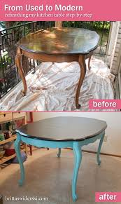 table refinishing 101 taking a kitchen table from used to modern by britta swiderski