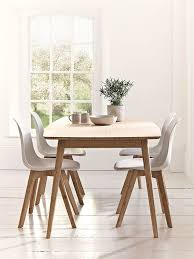 scandinavian style dining room furniture table and chairs