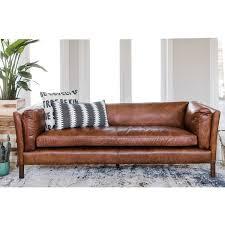 modern leather sofa.  Modern Modern Leather Sofa  Mid Century Couch Top Grain Brazilian  Cognac Brown In W
