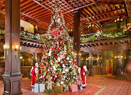photo essay sparkling hotel lobbies decked out for christmas christmas tree