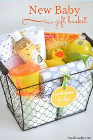 diy new baby gift basket idea and free printable