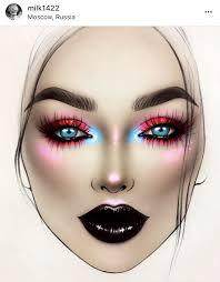 Face Charts Makeup Saubhaya Makeup