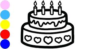 Cake Drawing Happy Birthday Cake Bday Cake Drawing Easy Contentparkco