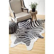 nuLOOM Hand-picked Brazilian Black / White Zebra Cowhide Rug (5' x 7') -  Free Shipping Today - Overstock.com - 13283870