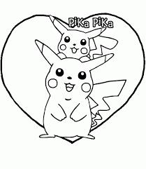 Pikachu Nel Cuore Disegni Da Stampare E Colorare Disegni Da