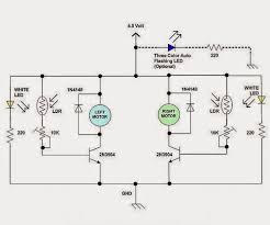 simple robot circuit diagram ireleast info electrical engineering world a simple line following robot wiring circuit