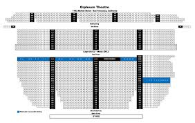 orpheum theater new orleans seating chart new shn orpheum theatre san francisco tickets schedule seating