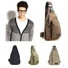 Men Canvas Retro Handbag Messenger Shoulder Sling <b>Military</b> C...