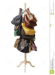 Coat And Bag Rack Bags hanging on coat rack stock photo Image of variety 100 20