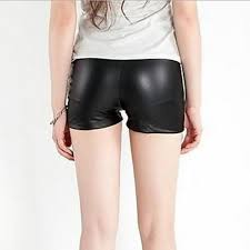 women s pu faux leather shorts pants women s pu faux leather shorts pants by irockleggings com