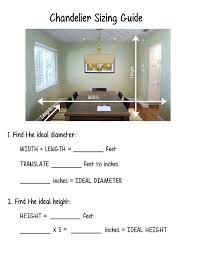 chandelier size for dining room. Dining Room Chandelier Size Guide For D