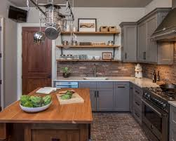 industrial kitchen furniture. large industrial enclosed kitchen ideas urban lshaped brick floor and brown furniture a