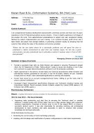 Kieran Ryan Cv Sales Engineer Resume Popular Resume Definition