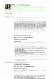 ... Resume format for Experienced Technical Support New Technical Support  Engineer Resume Samples Visualcv Resume ...