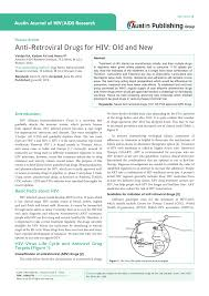 Pdf Anti Retroviral Drugs For Hiv Old And New