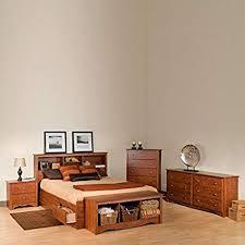 Amazon.com: Prepac Monterey Queen 4 Piece Bedroom Set in Cherry ...