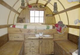 Small Picture Sheep Wagons Converted into Rustic Mobile Living Spaces