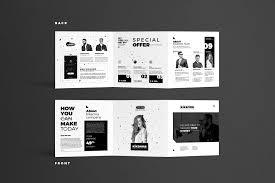 Square Tri Fold Brochure Illustratorpdfphotoshopadobe