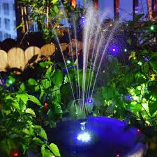 Fountain Pump With Led Light Us 16 0 50 Off 320l H Outdoor Solar Fountain Led Lighting Solar Floating Water Fountain Pump Fish Tank Pool Pond Landscape Garden Decor In Fountains