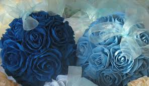 Crepe Paper Flower Balls Wedding Royal Navy Blue Hanging Crepe Paper Flower Balls Pomander
