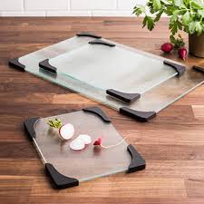 china tempered glass cutting board with certificates for