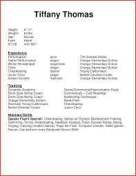 Theatre Resume Template Word Gallery Templates Design Ideas