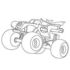 monster jam coloring pages. Interesting Monster Monster Truck Coloring Pages  Batman Inside Jam A